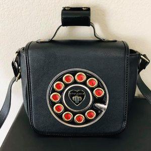 Betsey Johnson rotary phone crossbody bag retro
